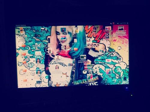 #harleyquinn  #Computer #monitor  #colorfuldisplay #black  #gholagraphy  #mobilephotography
