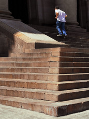 Running up the staircase (chrisk8800) Tags: staircase lines structure texture geometric stones composition youngman barcelona