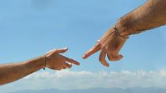 L'uomo cre Dio a sua immagine e somiglianza (mikael_on_flickr) Tags: luomocredioasuaimmagineesomiglianza mancreatedgodinhisownimage luomo man mann dio god gott gud collage cagliari simone arm braccia graziesimone sky himmel cielo fotomontage
