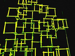 Abstract in Green (Thad Zajdowicz) Tags: 365 366 abstract lines shapes angles blackbackground text
