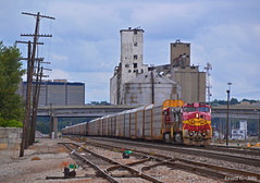 """Westbound Local in North Kansas City, MO (""""Righteous"""" Grant G.) Tags: atsf santa fe railroad railway locomotive train trains west westbound ns norfolk southern kansas city missouri local"""