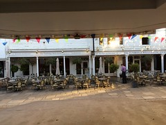 View from the Bandstand (My photos live here) Tags: royal tunbridge wells kent england pantiles historic urban town bandstand hotel tables chairs buildings