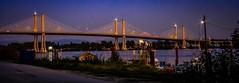 Three spans (Images by Christie  Happy Clicks for) Tags: goldenearsbridge pittmeadows langley bridge dusk bc canada dslr slr nikon d5200 britishcolumbia fraserriver
