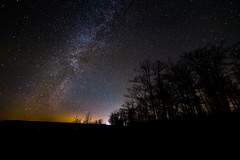 The Milky Way at Worlds End (Patrick Gensel) Tags: statepark trees stars pennsylvania space astro pa stellar astrophotography heavens celestial worldsend lightpollution milkyway