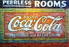 Coca Cola Delicous and Refreshing (Photographing Travis) Tags: sign oregon hotel antique bricks cocacola ashland shakespearefestival peerless peerlesshotel year2013 camerasamsunggalaxynexus