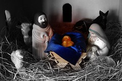 Merry Christmas to all... (jimsc) Tags: christmas joseph navidad infant mary jesus donkey ox crib lamb creche stable nativityscene