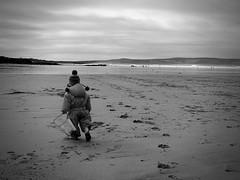 'Busy' (Mr B's Photography) Tags: blackandwhite bw beach bucket sand cornwall godrevy digikam panasonicg1
