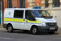 Lincolnshire Police Ford Transit Cage Van (PFB-999) Tags: city ford station centre cell police cage lincolnshire transit lincoln vehicle leds van beacons grilles unit lincs constabulary lightbars rotators fx59hbu