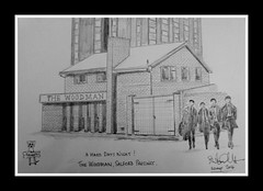 the woodman, a hard days night by broady 2014 (Broady - Salford art and photography) Tags: art beer pencil manchester sketch artwork pub drawing ale beatles pendleton salford fab4 precinct woodman broady broadhurst thewoodmanaharddaysnightbybroady2014
