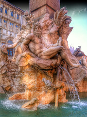 The Fountain of the Four Rivers .. Rome