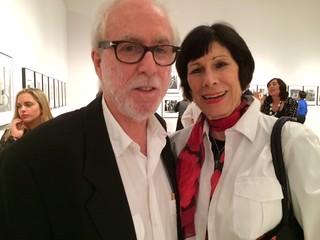 Mario Algaze and Erika King at Mario's grand opening of his exhibition of photographs at HistoryMiami