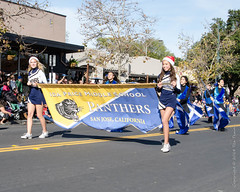 Ida Price Middle School Panthers (Tex Texin) Tags: christmas school holiday price december parade childrens panthers cheerleader middle ida losgatos marcher