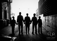 CLP DSC_012620142014BW (Cara Light Photography) Tags: street family love boys silhouette kids hands holdhands