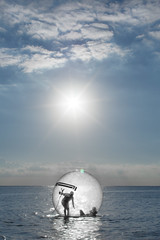 bubble (lemank) Tags: beach bubble waterball interestingness257 i500 waterwalkingball