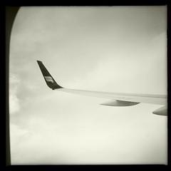 Flying! (breakbeat) Tags: travel sea holiday clouds airplane flying iceland wing aeroplane icelandic icelandair citybreak airwaves14