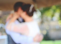 1st Dance (moke076) Tags: wedding friends blur outside groom bride dance blurry nikon dancing bokeh first marriage husband outoffocus wife d7000