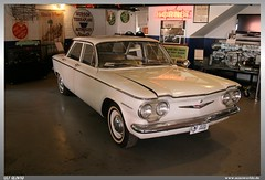 1960 Chevrolet Corvair (uslovig) Tags: auto usa heritage chevrolet car museum mi michigan garage automotive ypsilanti series hudson 700 1960 corvair werkstatt