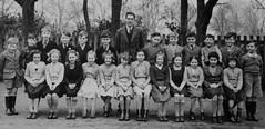 Class Photo (theirhistory) Tags: school england boys girl socks shirt children shoes uniform dress sandals skirt teacher master jumper shorts form wellies wellingtons primaryschool classphoto juniorschool zipupboots