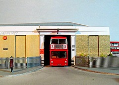 DMS at Barking (kingsway john) Tags: london transport dms daimler fleetline efe 176 scale kingswaymodels barking bus garage longbridgeroad card model building kit oo gauge londontransportmodel diorama miniature