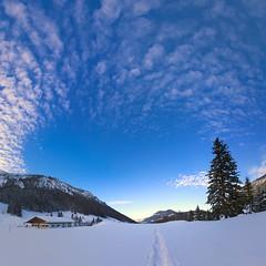 Happy 2015 (koaxial) Tags: p1011560p1011572mercatora koaxial olympus epl5 schnee snow 2015 new year sky himmel blue blau clouds wolken panorama hugin landscape landschaft stitch pano