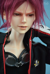 Rin Rin (Lorena Firefly) Tags: blue boy red costume doll cosplay free swimmingpool bjd dollfie ios firefly cho rin immortalityofsoul samezuka freeiwatobiswimclub rinmatsuoka