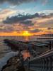 Sunset over the sea (David Cucalón) Tags: sunset sea sky costa sun seascape sol clouds landscape coast mar mediterranean mediterraneo cel olympus cielo nubes puestadesol escaleras nuvols 2014 e510 cucalon davidcucalon