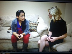 3TV Anchor Karen Brown on Channel 3 discussing immigration w/undocumented immigrants (karenbrowntv) Tags: