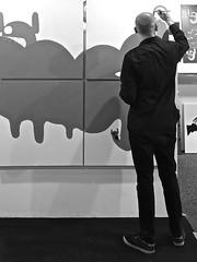 Homebase 2014 (Akbar Sim) Tags: bw streetart holland netherlands graffiti rotterdam zwartwit nederland exposition homebase oles tentoonstelling 2014 lijnbaan lastplak akbarsimonse akbarsim