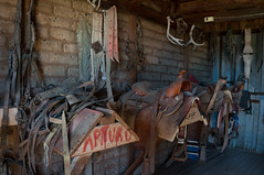 San Rafael Ranch, Arizona (James S Patterson) Tags: ranch saddle tack bridle cinch tackroom