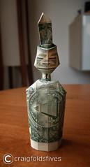 Dollar Origami American Indian Warrior ($ craigfoldsfives) Tags: money origami dollar moneyorigami dollarorigami craigfoldsfives craigsonnenfeld