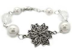 5th Avenue White Bracelet P9410-2