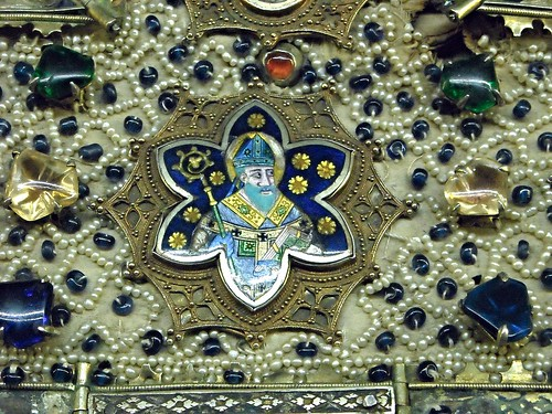"""""""Mitre"""" (Detail) - Sienese and Southern Italian Goldsmiths, about 1330-1355 - Nola, Cathedral - Angevin Naples - Temporary exhibition - Museum of the Treasure of Saint January in Naples"""