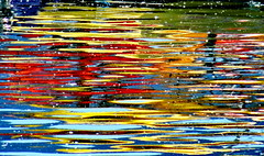 Water Art: Colourful reflections (peggyhr) Tags: ocean blue red brown white canada black green yellow vancouver reflections gallery bc artistic cove creative deepcove abstraction thegalaxy 50faves peggyhr level1photographyforrecreation thegalaxyhalloffame frameit~level01~ frameit~level02~ rainbowofnaturelevel1red 60faves~ dsc05444ab