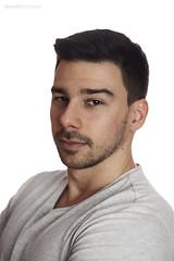 Peter (danieldioszegi) Tags: portrait white man men guy grey nikon muscle handsome indoor headshot highkey simple