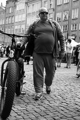 Great Bike for Great Man (JarHTC) Tags: street people bw monochrome bike fujifilm xe2