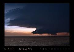 Kansas (Matt Grans Photography) Tags: sunset storm weather clouds twilight kansas tornado supercell