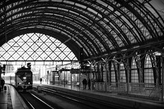 Dresden Station (pablo41419) Tags: blackandwhite blancoynegro station train germany dresden europa europe day passengers tryp trainstation return alemania dresde pasajeros