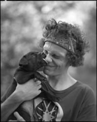 Ethan's new pup Ozzy (KyleKisling) Tags: portrait blackandwhite film mediumformat pentax ishootfilm 120film 6x7 ilford blackandwhitephotography ilforddelta100 pentax6x7 shootfilm filmisnotdead filmshooter