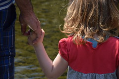 Father and daughter. (FOTO.Michaela) Tags: trip family detail love water childhood children kid hands nikon republic colours hand czech walk father daughter may ostrava 2016 d5300