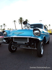 Blue Gas (Swanee 3) Tags: blue chevrolet nostalgia chevy 1957 gasser