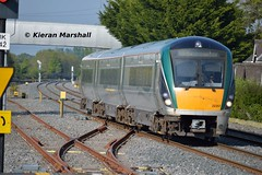 22057 arrives at Hazelhatch and Celbridge, 16/5/16 (hurricanemk1c) Tags: irish train rail railway trains hatch railways irishrail rok rotem 2016 icr iarnrd 22000 22057 ireann iarnrdireann 3pce 1720heustonportlaoise hazelhatchandcelbridge