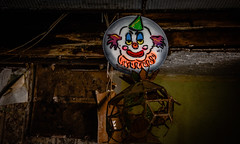 Conversations with a clown... (trs125) Tags: clown record facebook weirdnj abandonedplaces bumbotheclown