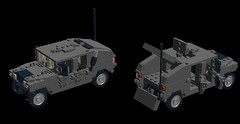 Humvee (The Lumpy Lobster) Tags: woodland steering lego suspension military humvee nato