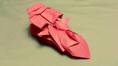 Jet Car (my design) (M.Novio) Tags: red car speed paper origami jet vehicle complex paperfolding