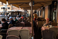 Colazione in rosa (francesco_if ) Tags: street morning pink roma breakfast bar square pantheon streetphotography rosa tourist colazione