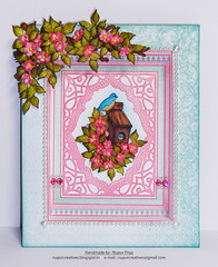Birds and blooms frame (Nupur Creatives) Tags: heartfelt creations heartfeltcreations