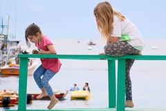 Playtime at Avalon, Catalina Island 1 (Journey CPL) Tags: ocean california girls sea summer sun playing cute beach girl sisters island coast play avalon