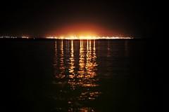 By the Bay. 168/366 (jenniferdudley) Tags: nightphotography beach bay glow nightlights manly nighttime moretonbay wynnum day168366 366the2016edition 3662016 16jun16