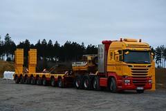 Scania R730 Streamline (Actros_4160) Tags: truck crane transport semi cranes lorry nicolas trailer v8 scania lkw krane 730 schwertransport kamag wiesbauer scheuerle deeploader