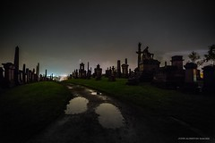 The Necropolis: City of The Dead (john&mairi) Tags: cemetery night nocturnal fireworks glasgow tombstone statues puddles tombs necropolis cityofthedead johnknox